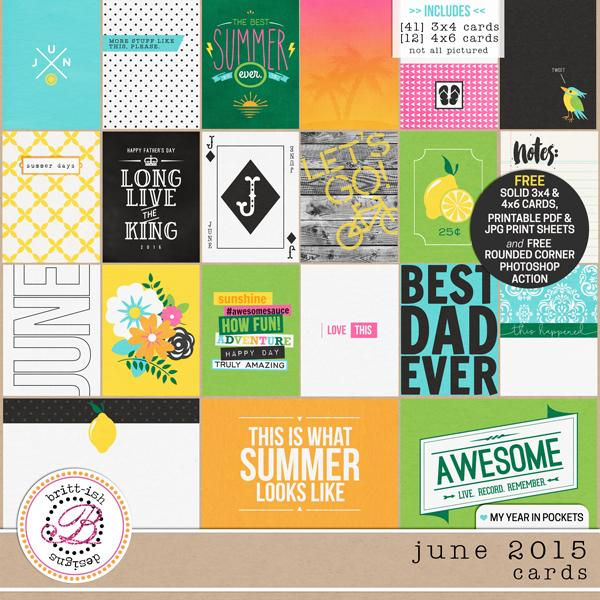 My Year In Pockets (June 2015): Cards