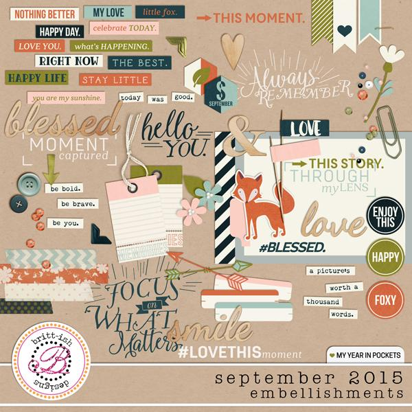 My Year In Pockets (September 2015): Embellishments