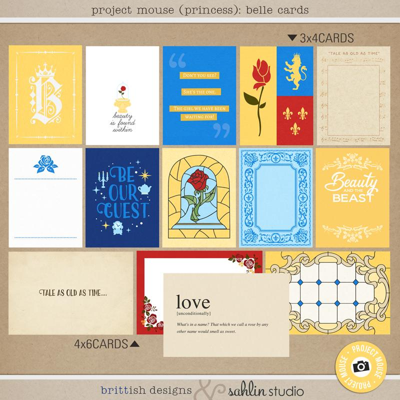 Project Mouse (Princess): Belle Cards