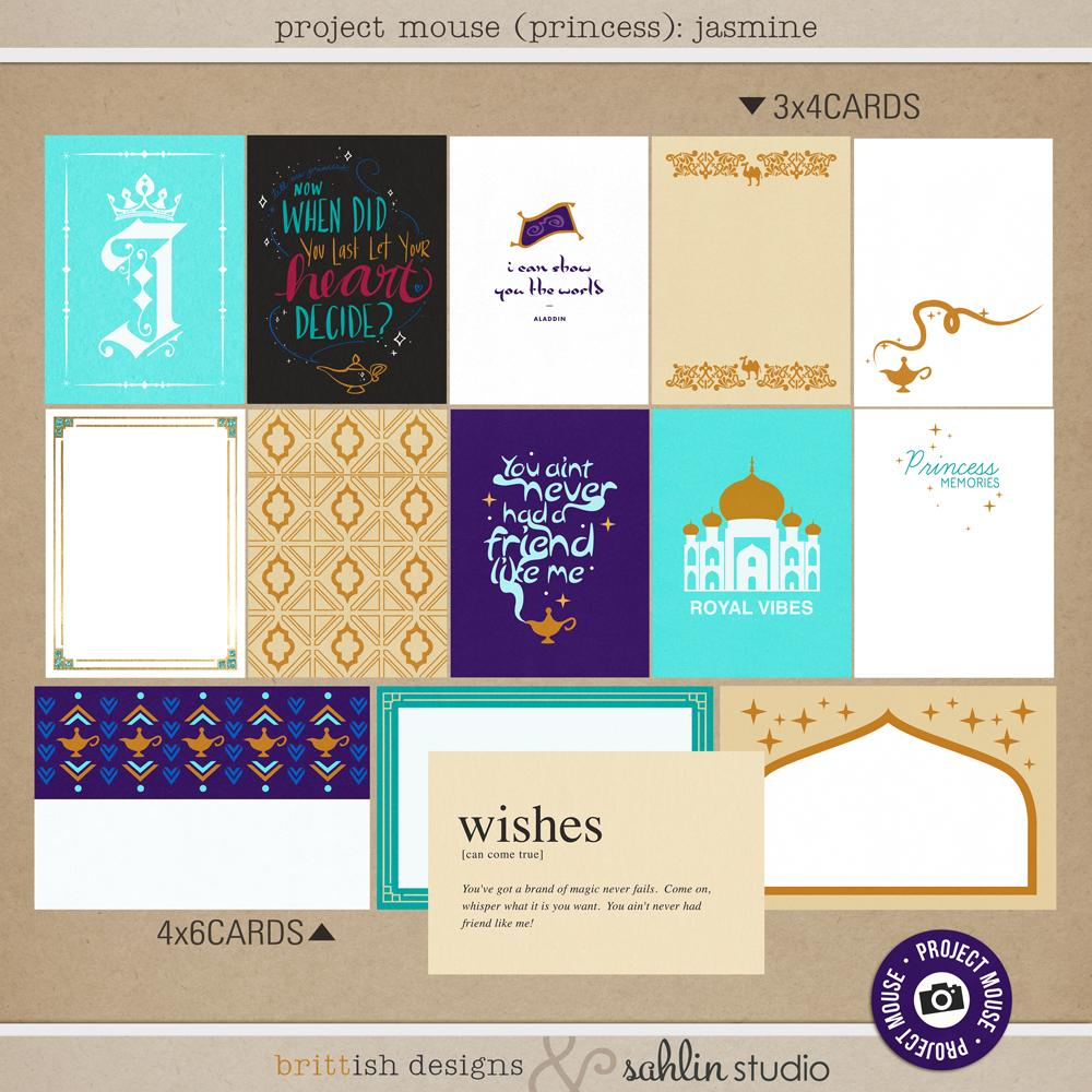 Project Mouse (Princess): Jasmine Cards