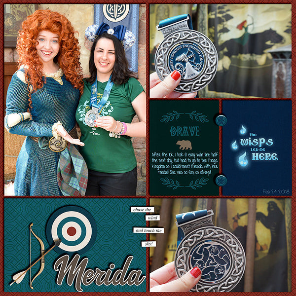 Project Mouse (Princess): Merida Cards