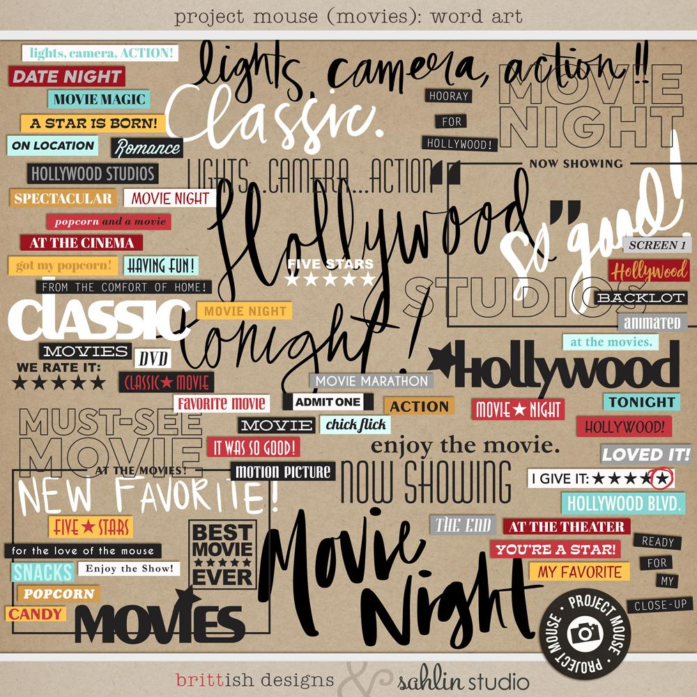Project Mouse (Movies): Word Art