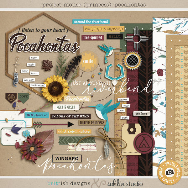 Project Mouse (Princess): Pocahontas Bundle