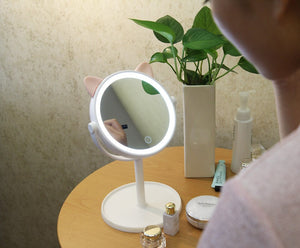Kitty Lighted Makeup Mirror