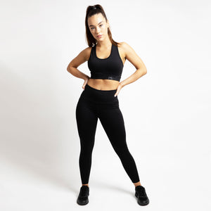 Basic Elevated Sports Bra in Black