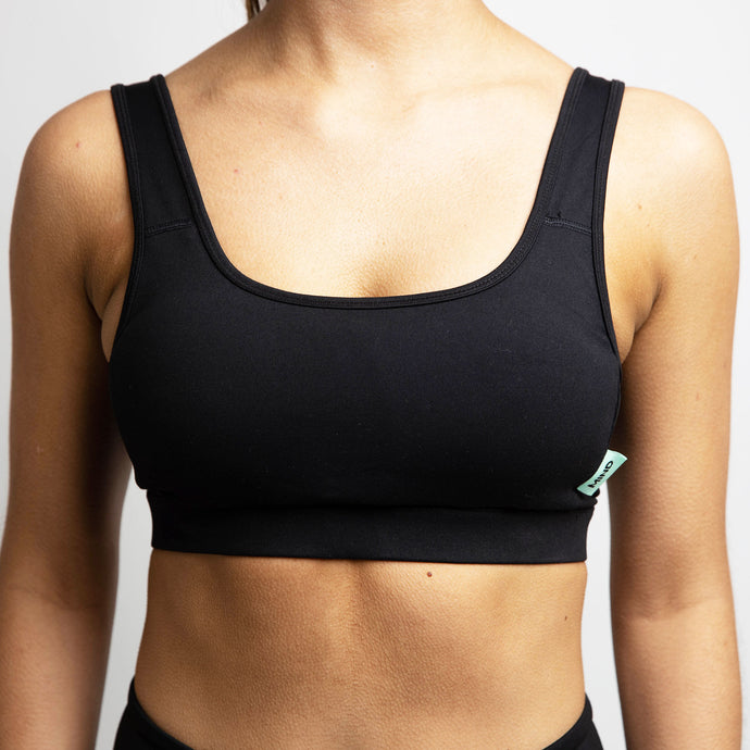 Flex Tag Sports Bra in Black