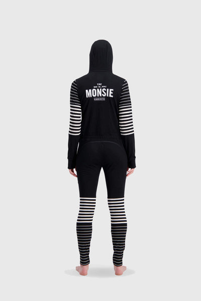The Monsie One Piece - Black / Thick Stripe / Thin Stripe