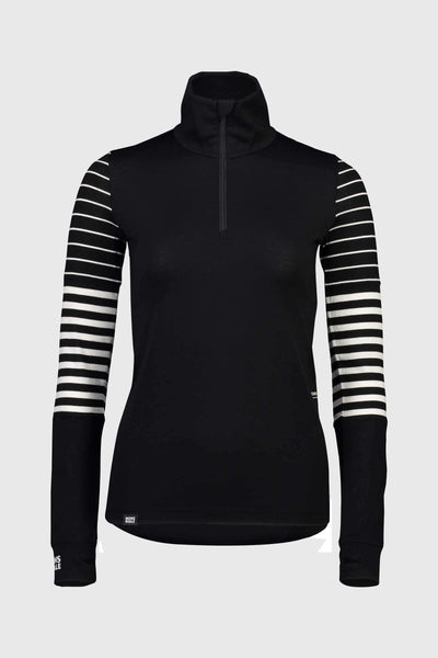 Cornice Half Zip - Black / Thick Stripe / Thin Stripe