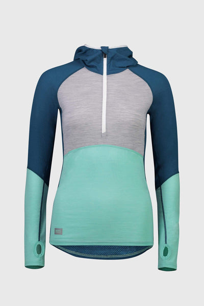 Bella Tech Hood - Oily Blue / Peppermint / Grey Marl