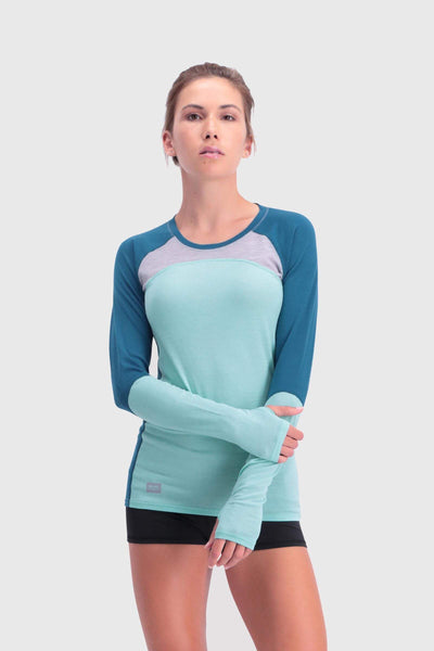 Bella Tech LS - Oily Blue / Peppermint / Grey Marl