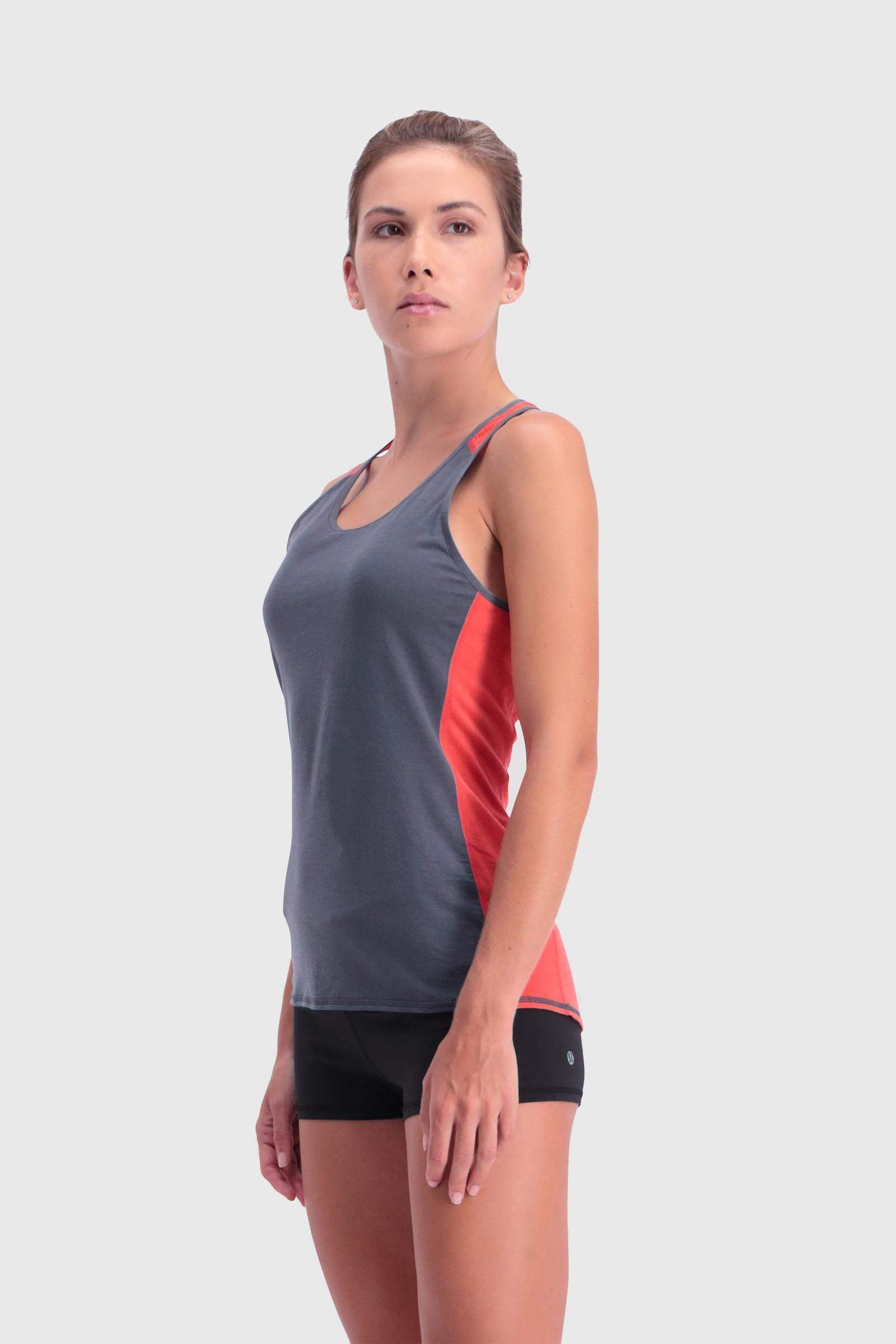 Bella Tech Tank - Poppy / Charcoal