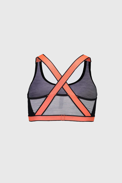 Stella X-Back Bra - Black / Grey Marl