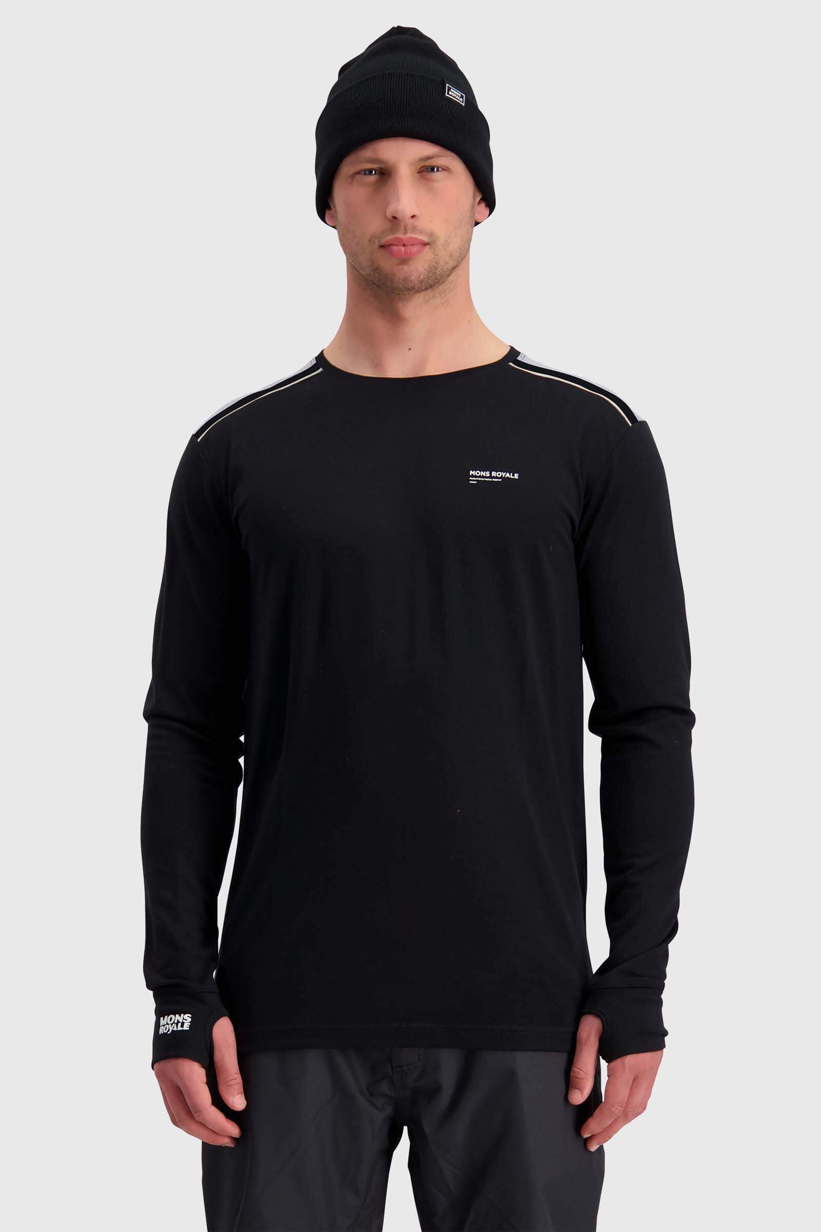Alta Tech LS Crew - Black / Grey Marl
