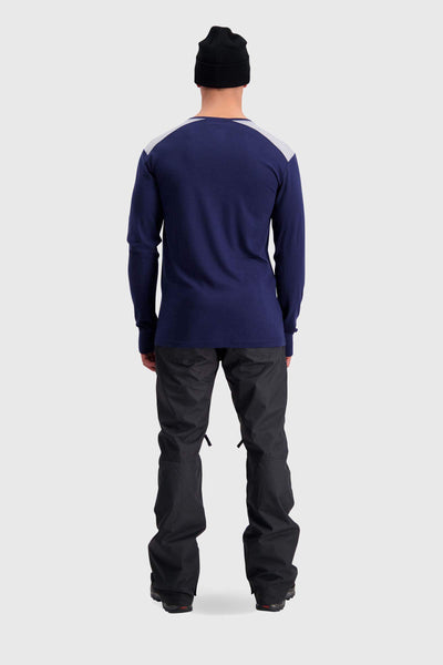 Alta Tech LS Crew - Navy / Grey Marl