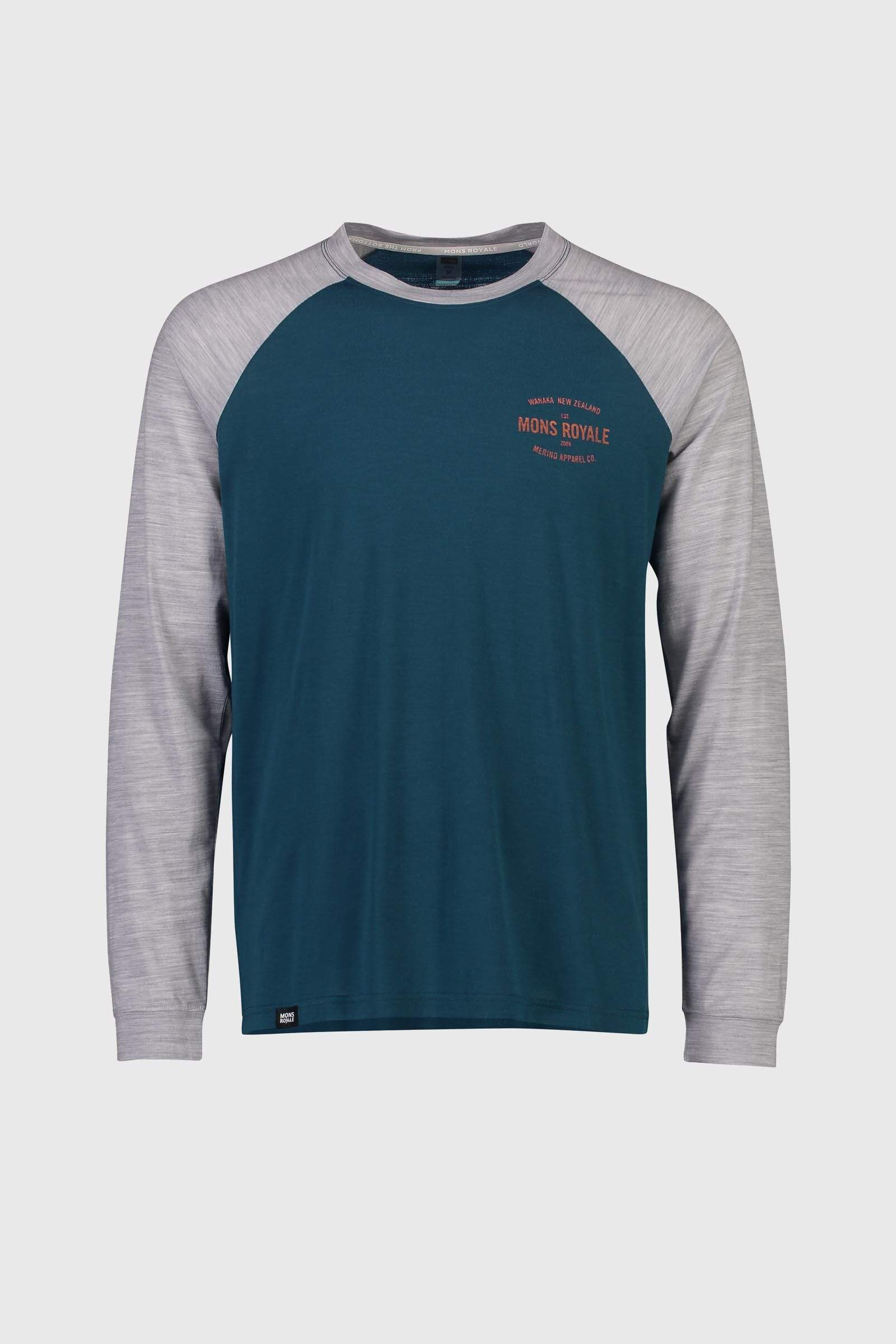 ICON Raglan LS - Atlantic / Grey Marl