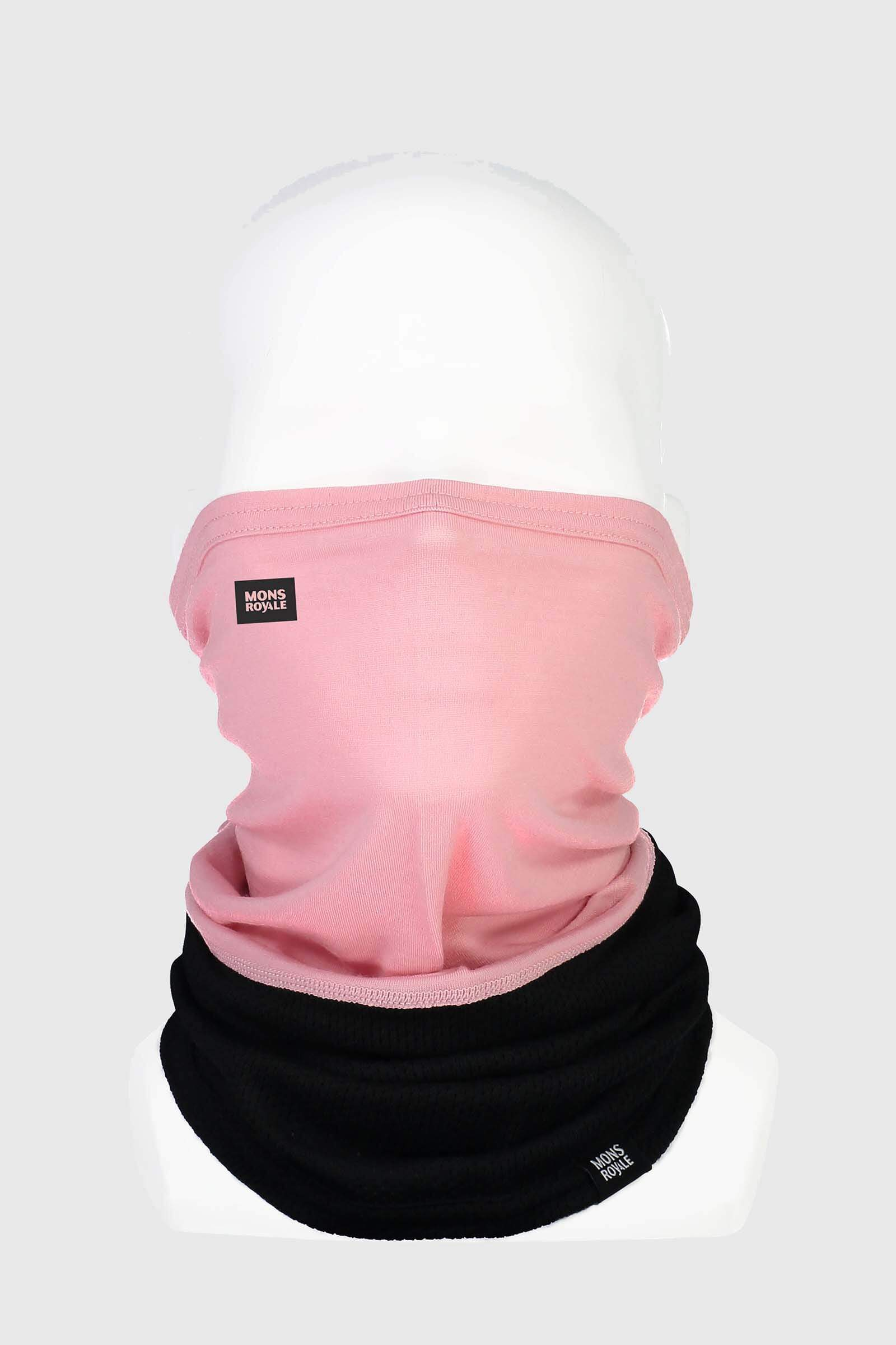 Fifty-Fifty Mesh Neckwarmer - Black / Rosewater
