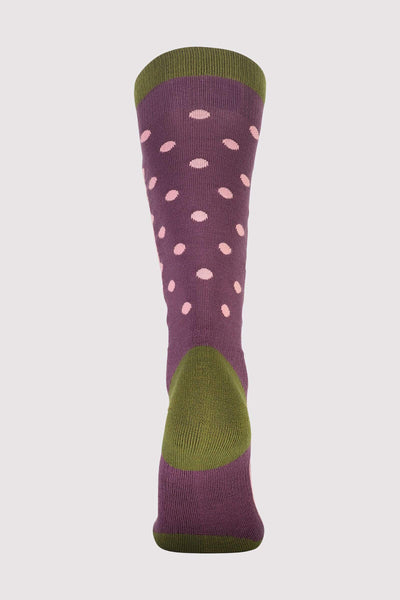 Mons Tech Cushion Sock Womens - Blackberry / Avocado