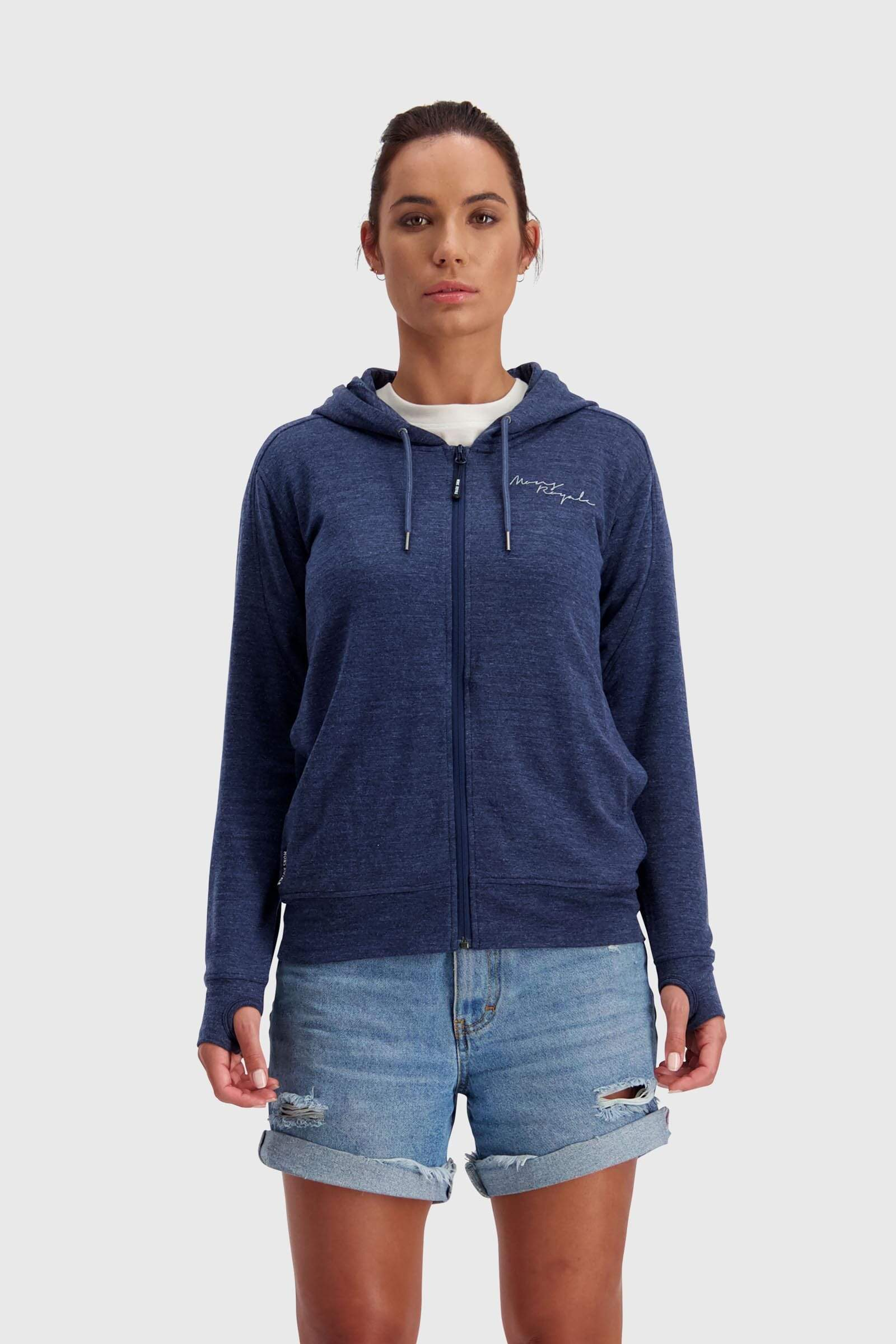 Covert Lite Zip Hoody - Navy