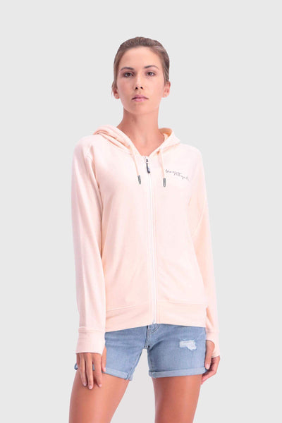 Covert Lite Zip Hoody - Blush