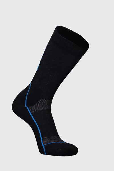 "MTB 9"" Tech Sock - Black / Downhill Blue"