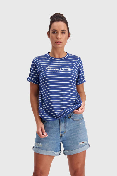 Suki BF Tee - Ink Stripe