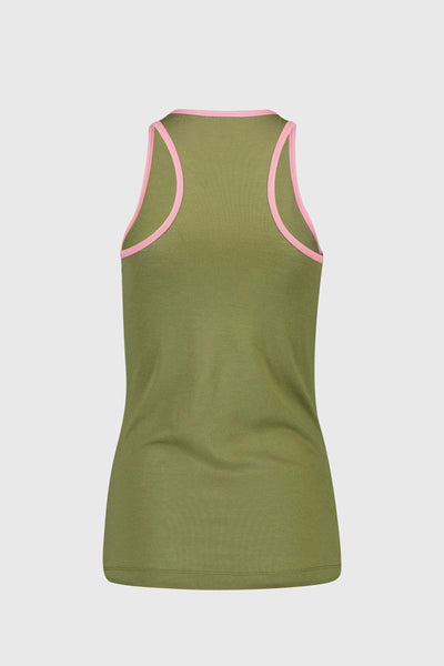 Icon Tank - Khaki Rose