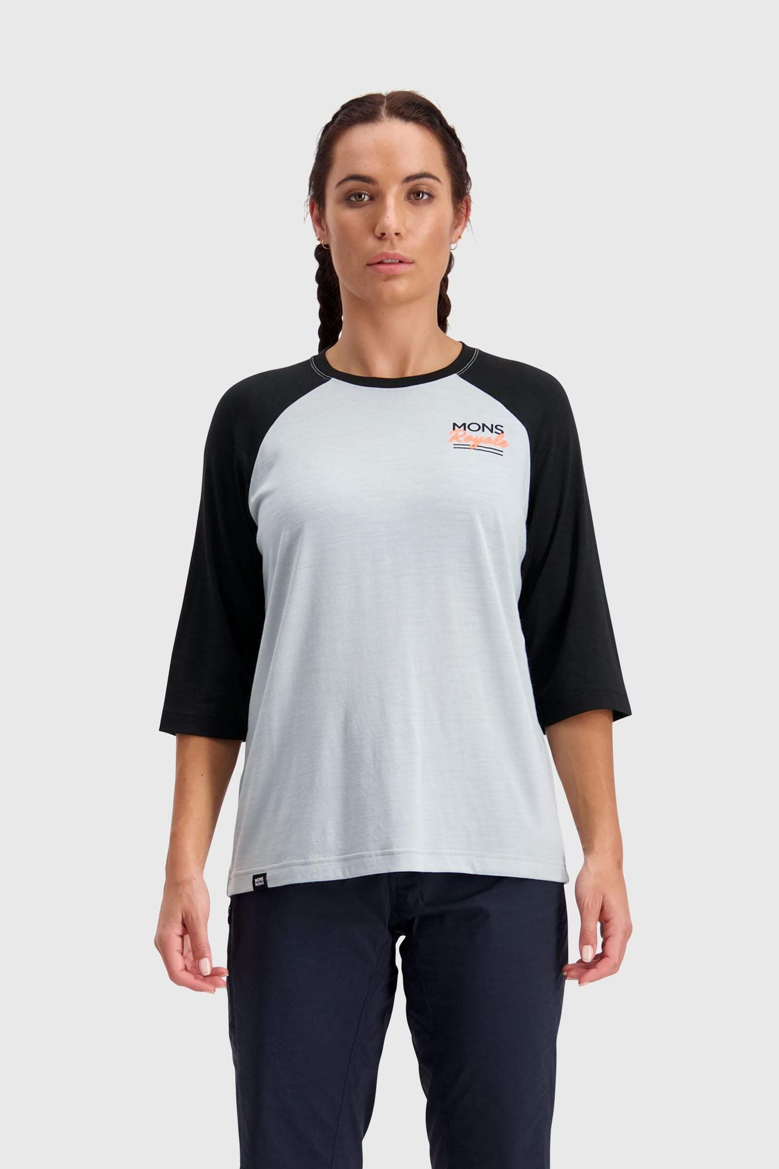 Tarn Freeride Raglan 3/4 - Black / Grey
