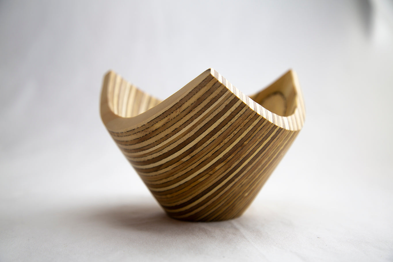 Plywood Tri-corner Bowl