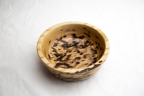 Wormy Ash woodturned bowl