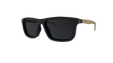 Óculos de Grau HB 0351 Switch Clip On Matte Black Wood/ Gray Polarized lente 5,2