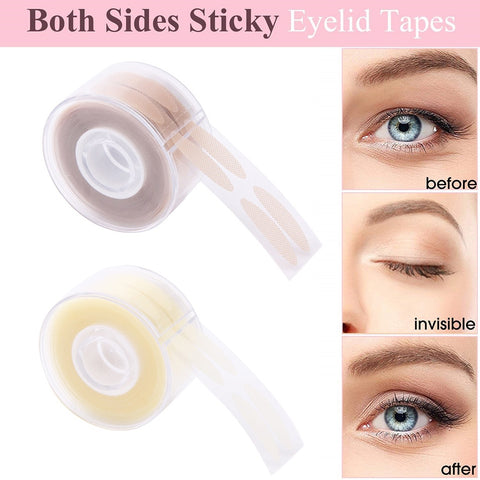 600PCS Eyelid Tape Sticker Invisible Double Fold Eyelid Paste Stripe 4Colors Self-adhesive Natural Eye Tape Makeup Tools TSLM1