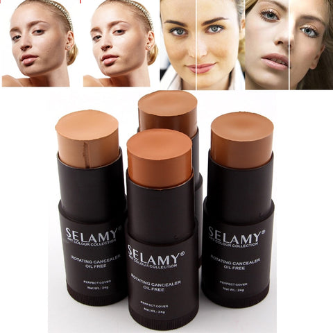 Makeup Face Foundation Full Cover Contour Face Concealer Base Primer Moisturizer Hide lemish Bronzer Concealer Stick консилер