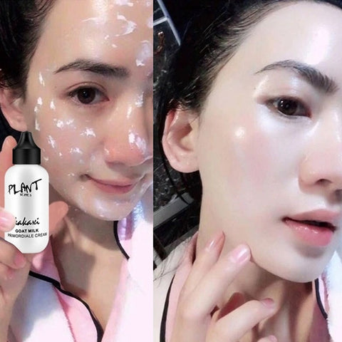 Lazy BB&CC Face Brighten foundation Natural Waterproof Cream Goat Milk Revitalizing Skin Glow Korean Easy Makeup Base Cosmetic