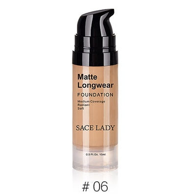 Face Matte Foundation Cream Make Up Base Natural Full Coverage  Liquid Whitening Cosmetic Moisturizer Foundation Cream