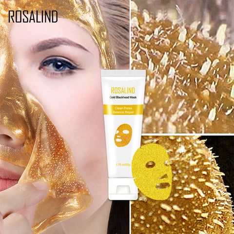 ROSALIND  Mask For The Face 24K Gold Collagen Blackhead Remover Anti-Aging Shrink Pore Acne Scar Skin Care Cosmetic Face Masks