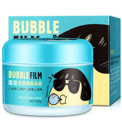 Hot Facial Bubble Foam Mask Moisturizing Oil Control Shrink Pores Washable Mask Skin Care J3