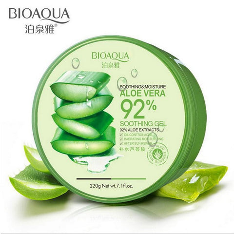 BIOAQUA Face Care Set Aloe Vera Gel Cream Natural Aloe Vera Moisturizing Mask Essence Toner Women Skin Care Face