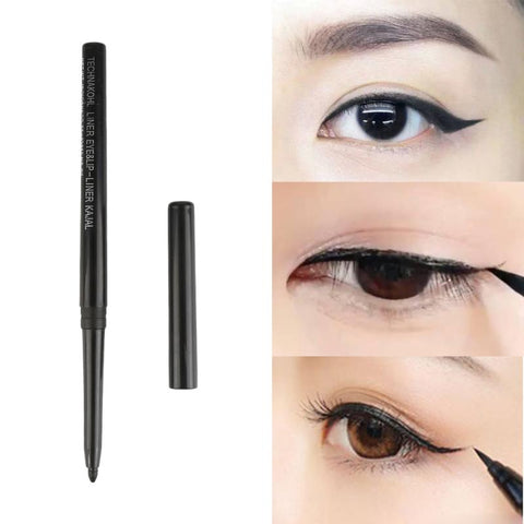 1pcs Waterproof Durable Eyeliner Quality Pigment Black Pencil Eyeliner Cosmetics Natural Big Eyes Softening Makeup Tool TSLM2