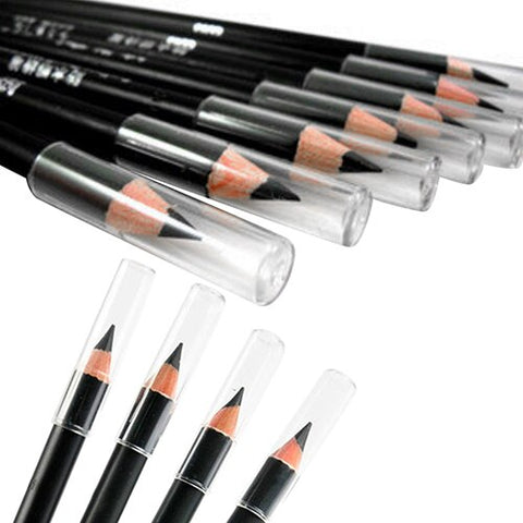2Pcs Black Smooth Waterproof EyeLiner Eyebrow Pencil Long Lasting Eye Brow Tattoo Dye Tint Pen Cosmetic Eye Makeup Beauty Tool