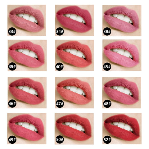 MISS ROSE 12 Color Star Matte Lipstick 1pcs Long-lasting Bright Waterproof Non-stick Cup Non-fading Lipstick TSLM2