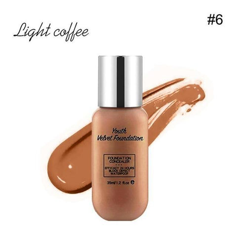 Youth Velvet Foundation Concealer Lasting Waterproof Whitening Breathable Concealer Moisturizing Breathable Matte Base Make Up