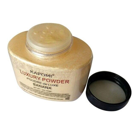 Women Banana Loose Powder 1.5 Oz Whitening Oil Control Luxury Face Powder Foundation Beauty Makeup Highlighter Long Lasting