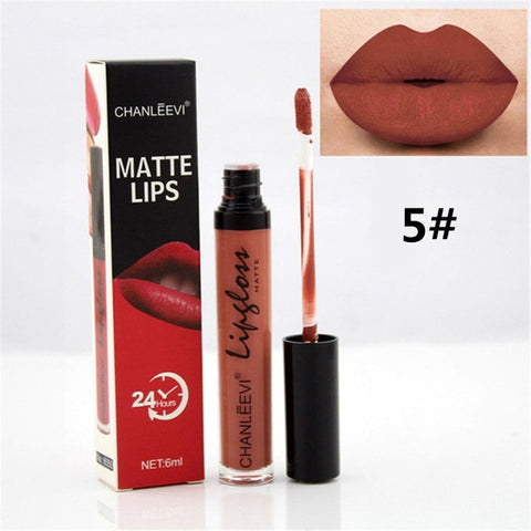 8 Colors Sexy Fashion Liquid Lipstick 24 Hours Long Lasting Makeup Matte Lip Gloss Red Purple Velvet Pigment Lip Gloss Beauty