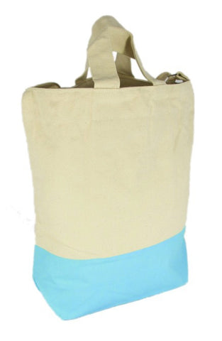 Latex Dip Canvas Tote - Blue Hawaii