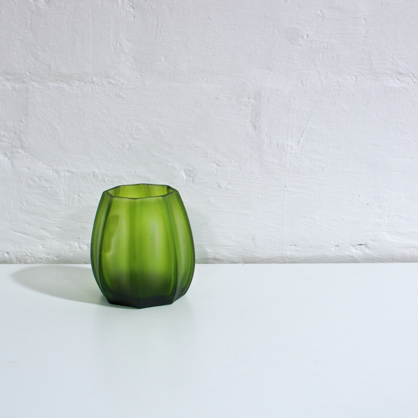 Tulip Glass Vase - Fern