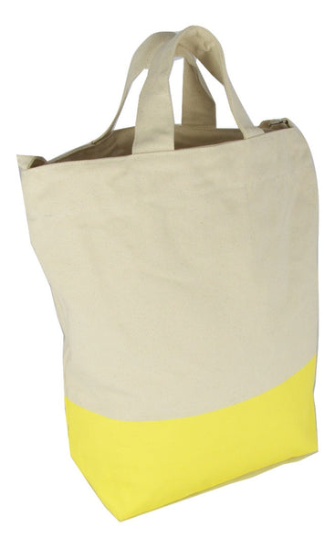 Latex Dip Canvas Tote - Lemon Fizz