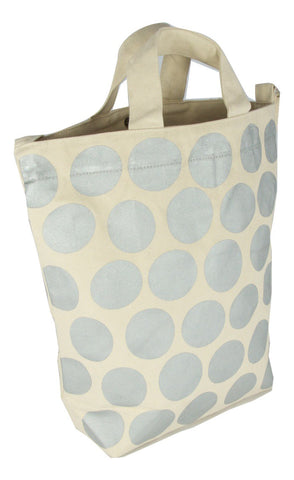 Latex and Canvas Tote - Full Moon - Natural