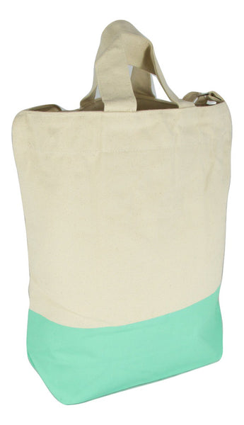 Latex Dip Canvas Tote - Mint Madness
