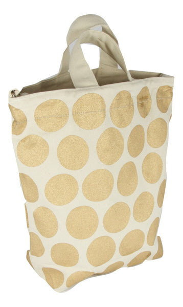 Latex and Canvas Tote -  Midas Touched - Natural