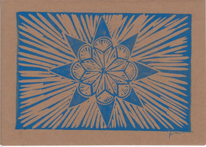 8-Pointed Star Flower Notecard